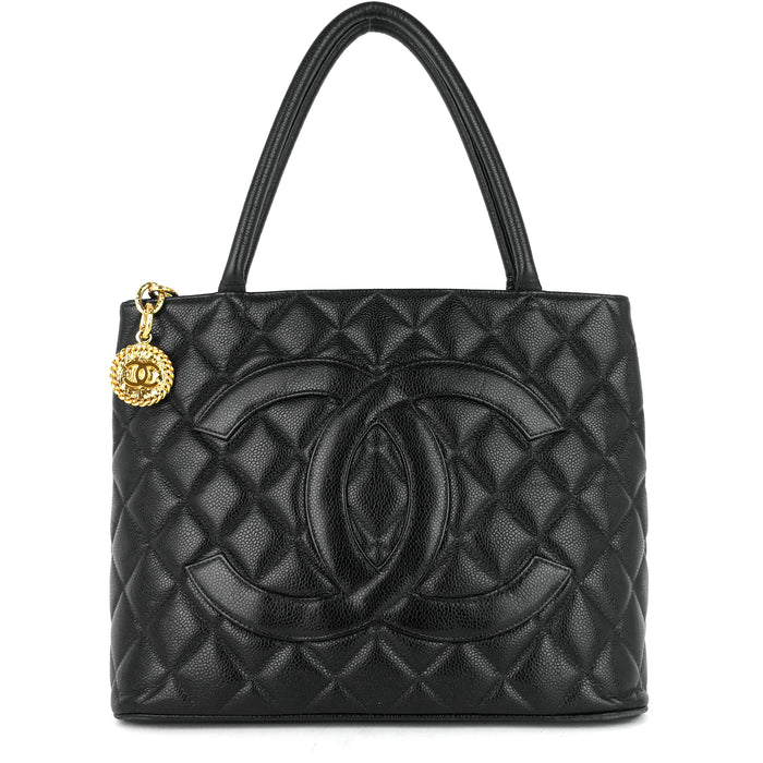 Medallion Caviar Leather Tote Bag