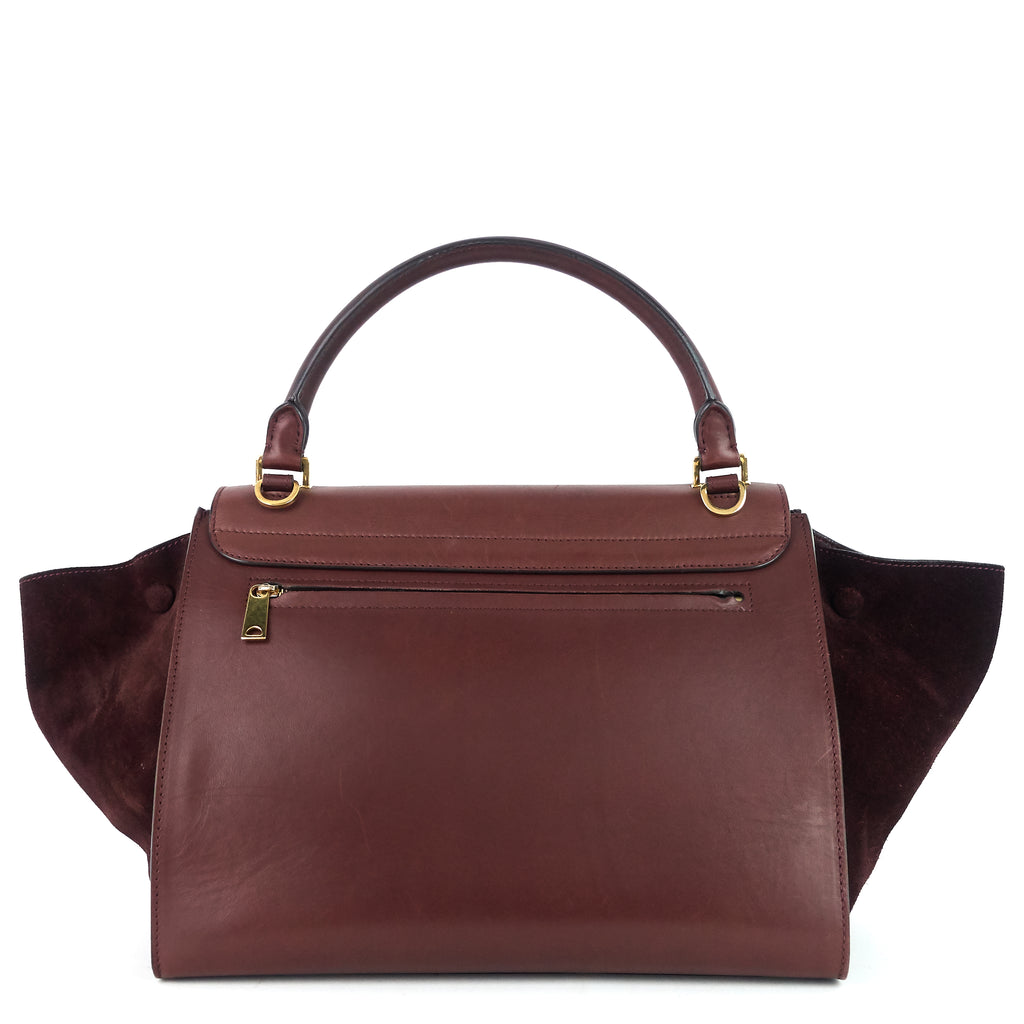 Trapeze Medium Calf Leather and Suede Bag