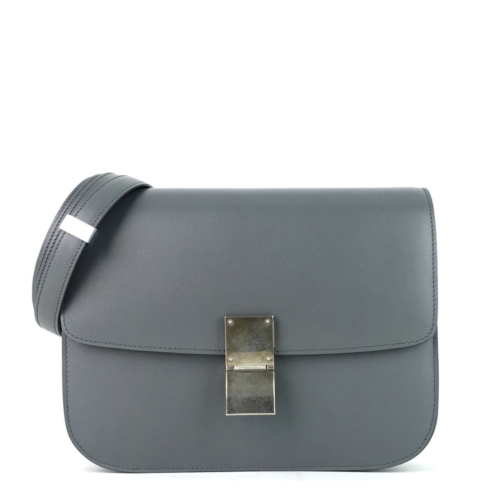 Classic Box Flap Medium Calf Leather Bag