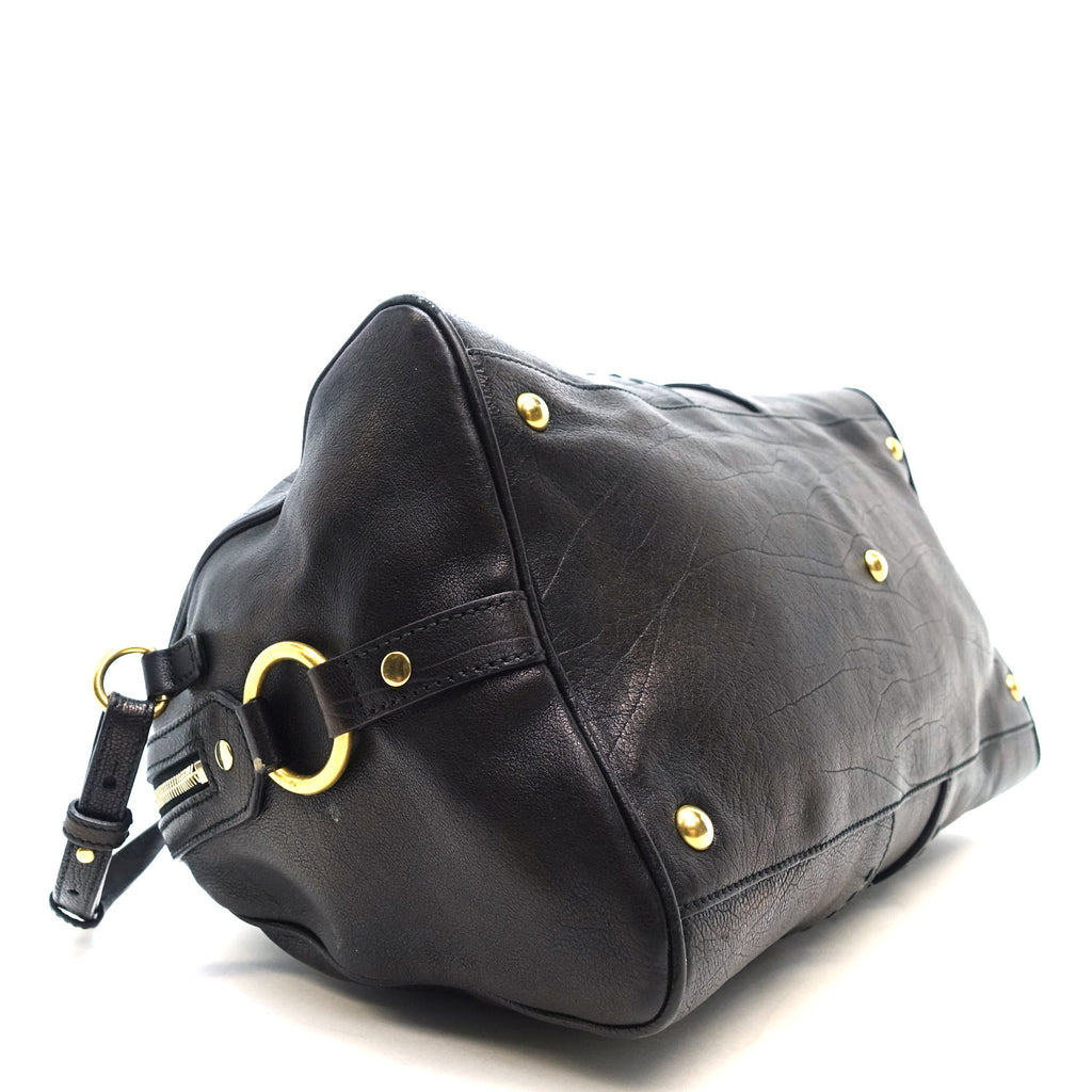 Muse Bowler Grained Leather Handbag