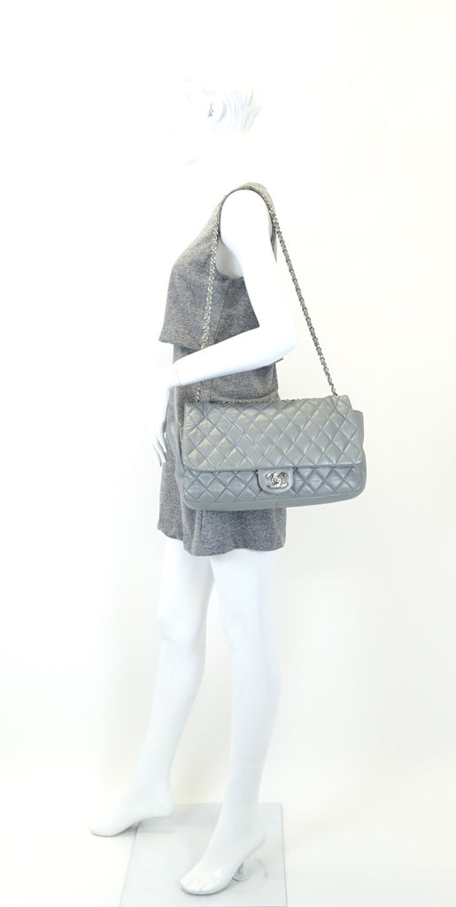 Coco Rain Flap Jumbo Lambskin Leather Bag