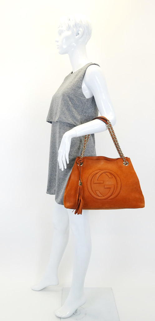 Soho Chain Strap Nubuck Leather Handbag