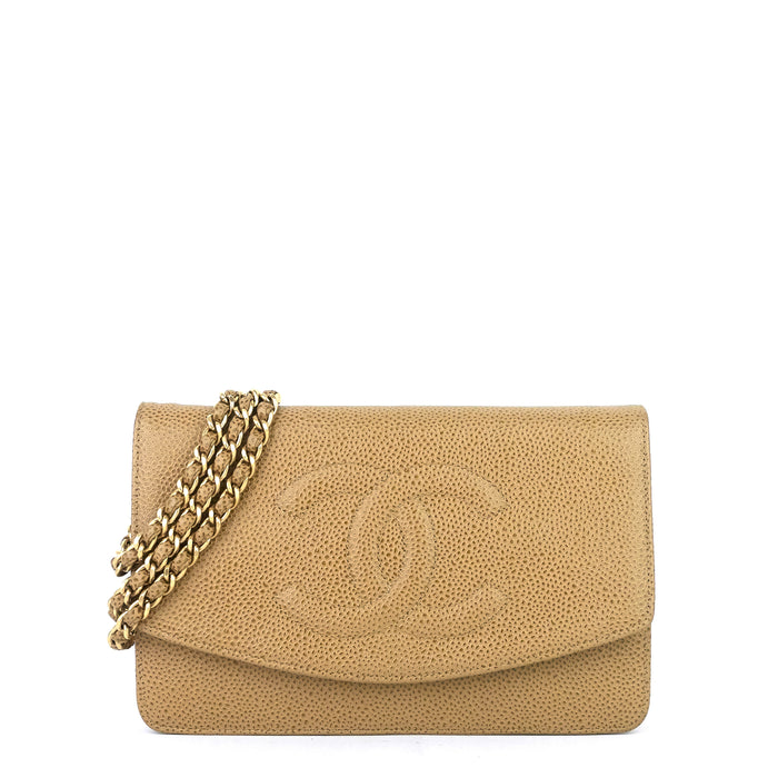Timeless Caviar Leather Wallet on Chain