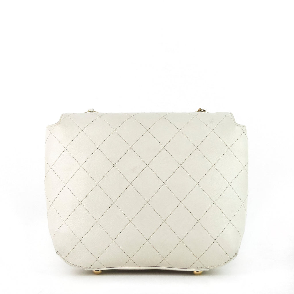 Quilted Leather Small Flap Bag