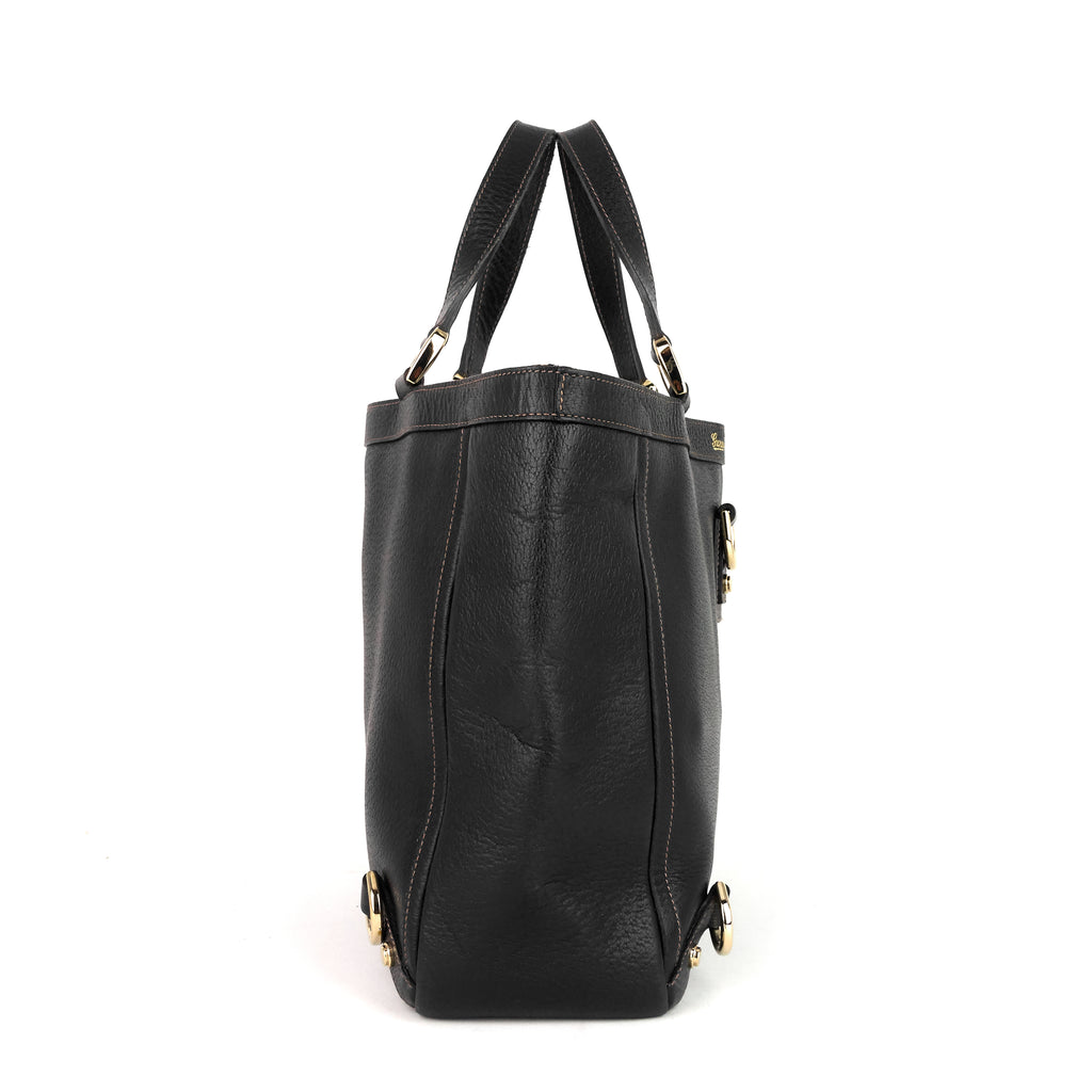 Abbey D-Ring Leather Tote Bag