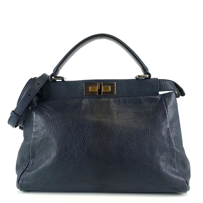 Peekaboo Regular Goatskin Ombre Leather Bag