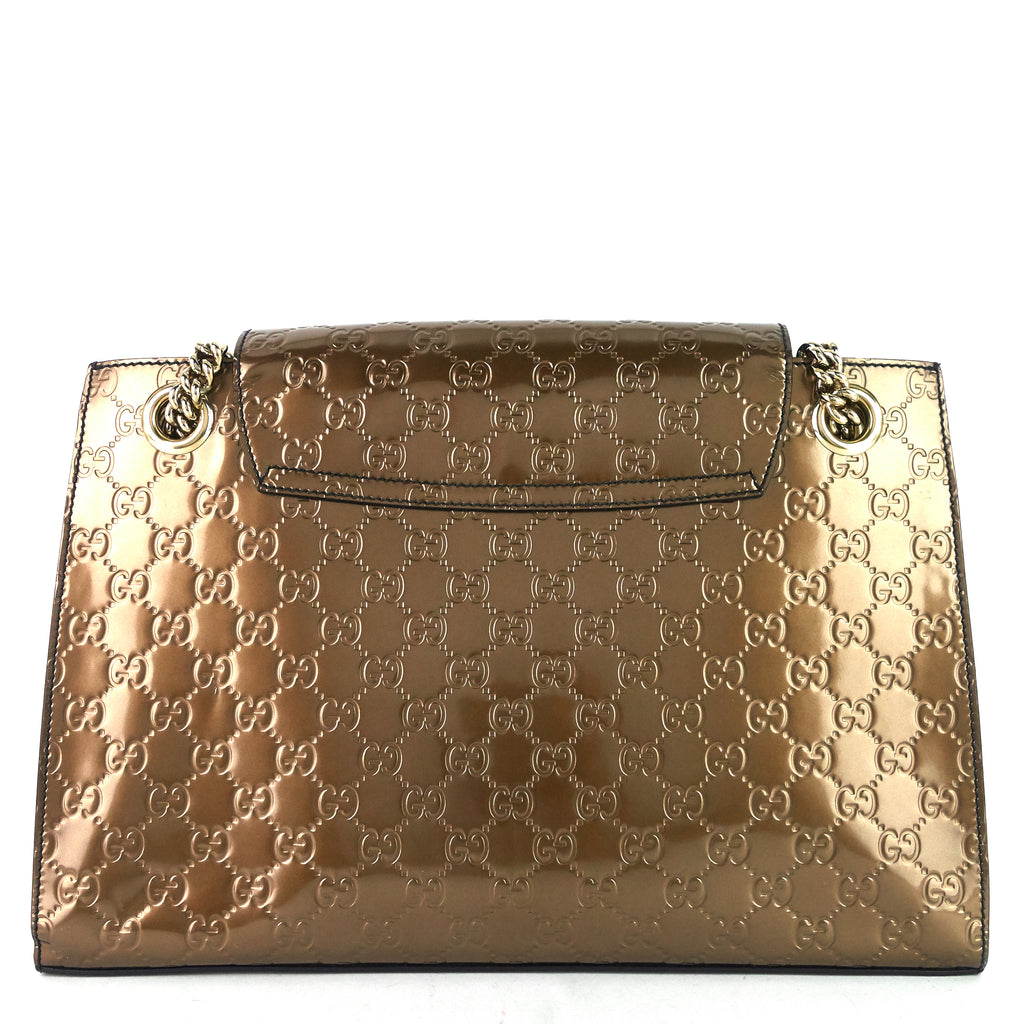 Emily Large Guccissima Patent Leather Bag