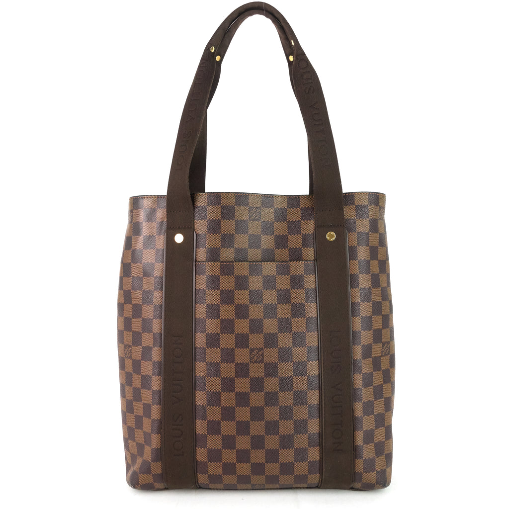 Cabas Beaubourg Damier Ebene Canvas Tote Bag