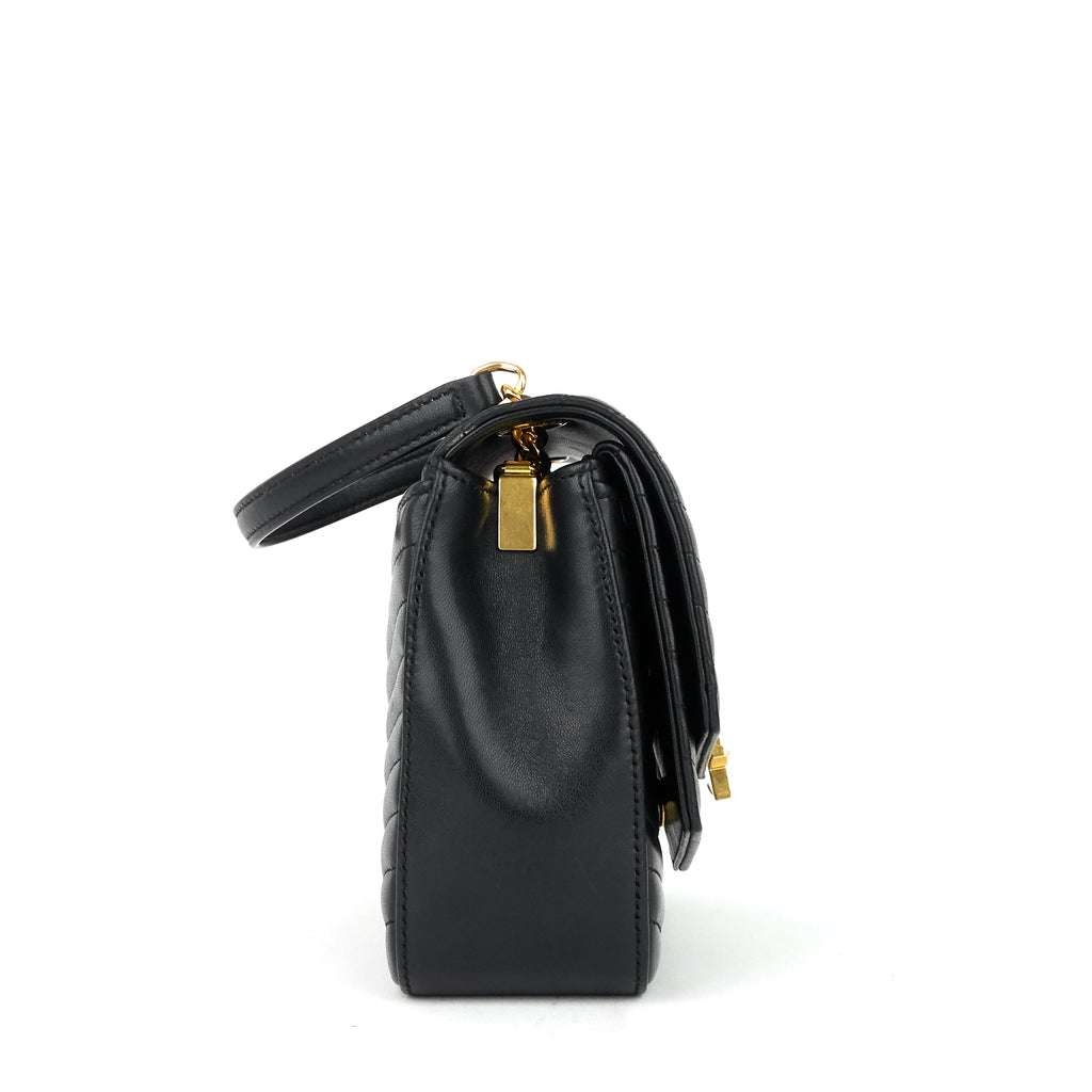 Sulpice Small Matelassé Lambskin Leather Bag