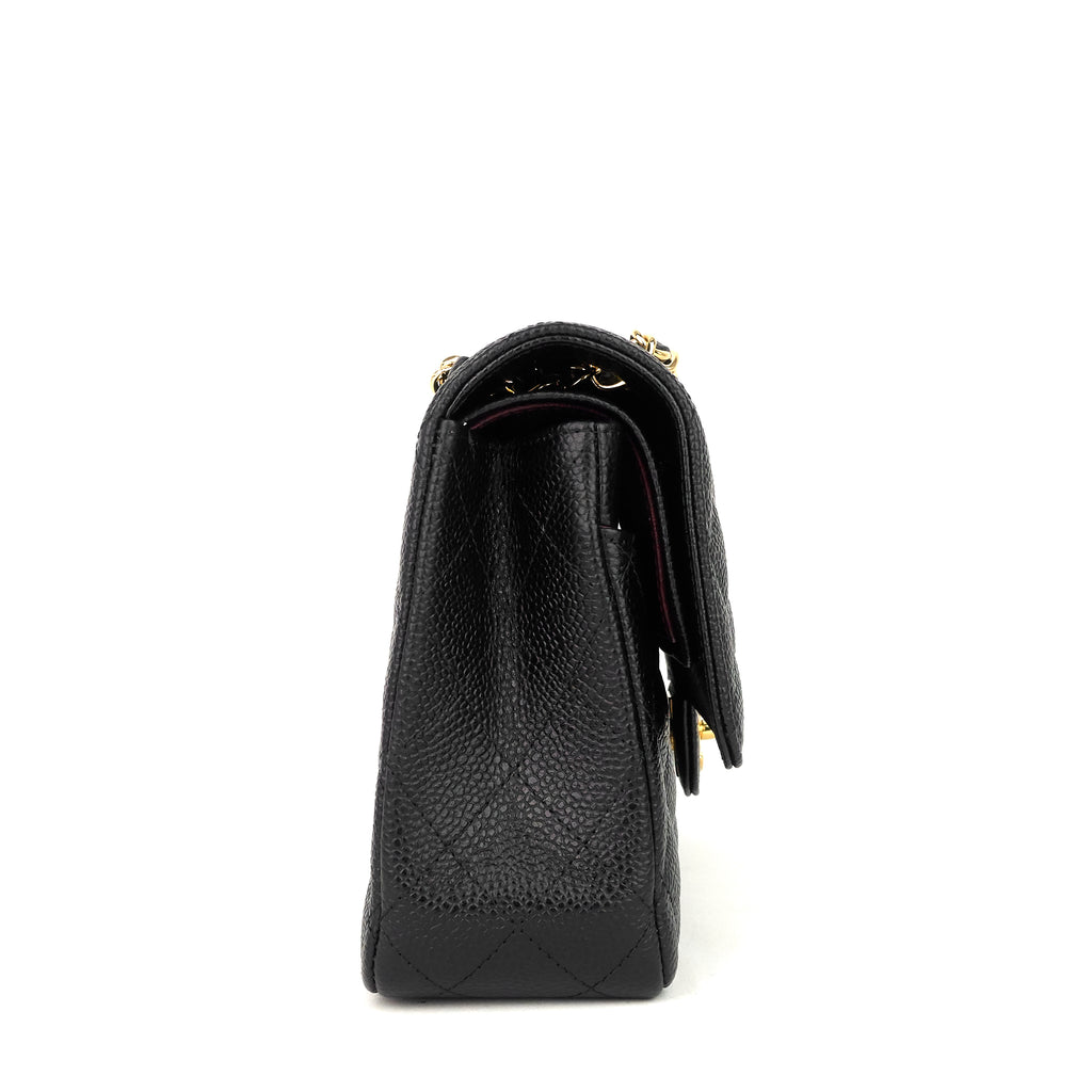 Classic Double Flap Medium Caviar Leather Bag