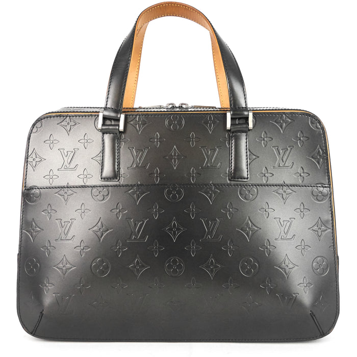 Malden Monogram Mat Leather Bag