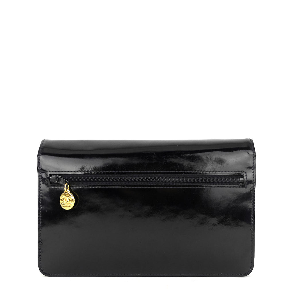 Timeless Wallet on Chain WOC Vintage Patent Leather Bag