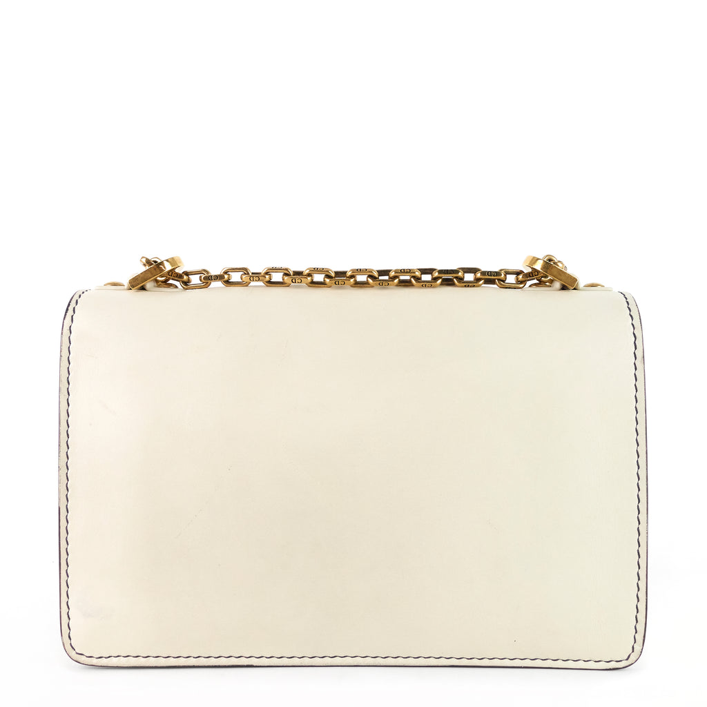 J'Adior Calf Leather Chain Flap Bag
