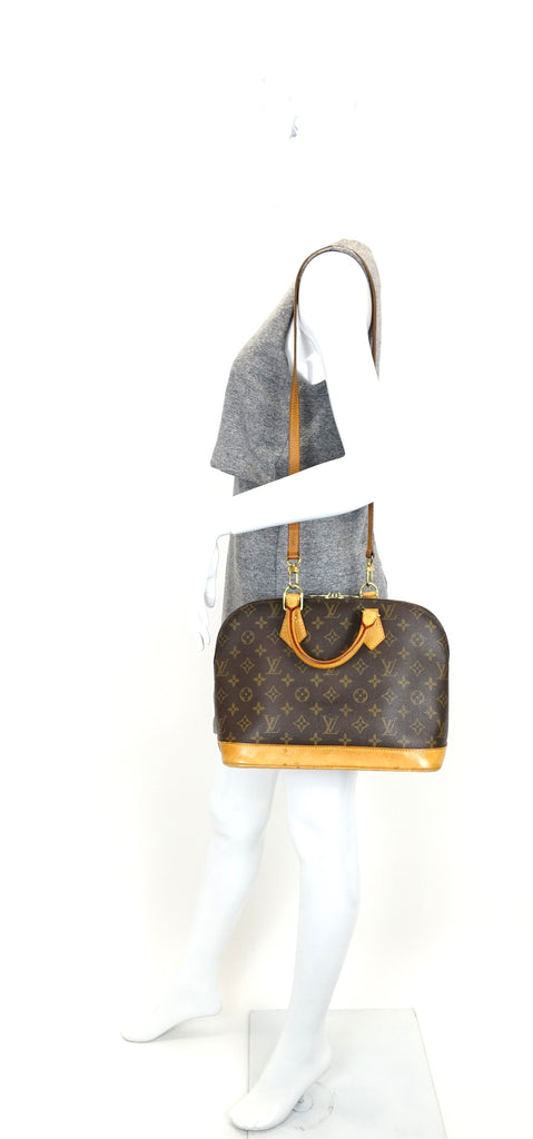 Alma Monogram Canvas Handbag with Strap