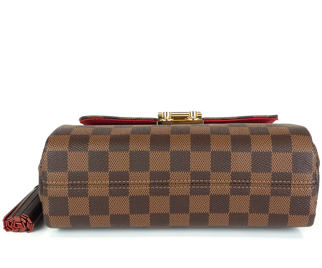Croisette Damier Ebene Canvas Handbag with Strap