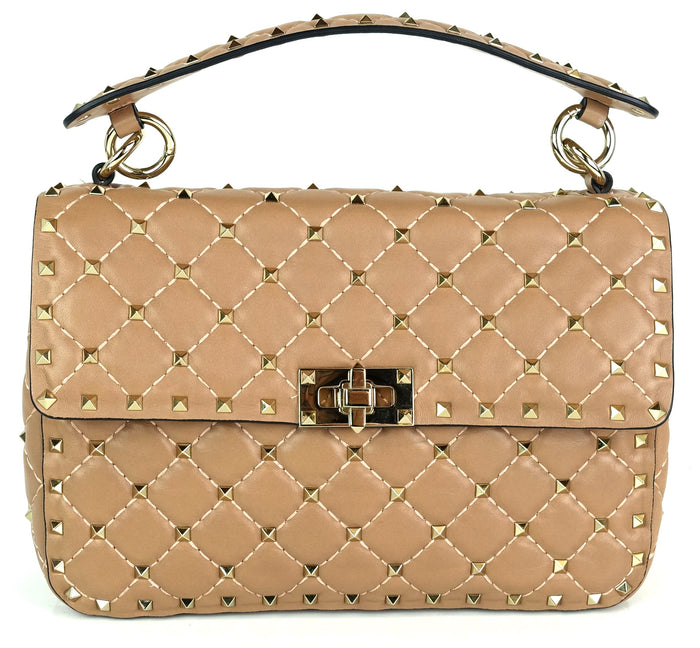 Rockstud Spike Quilted Lambskin Leather Bag