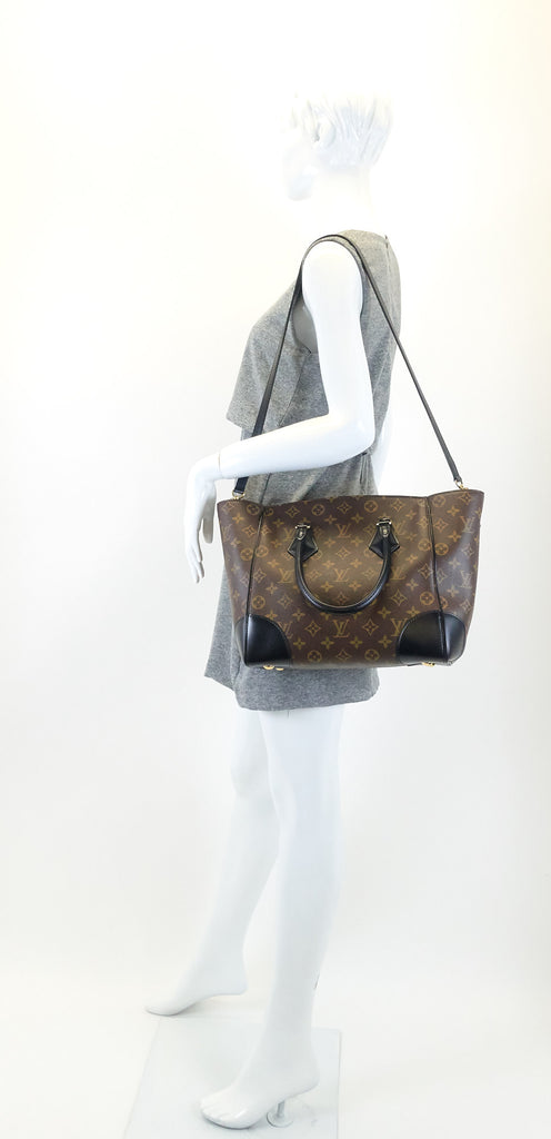 Phenix MM Monogram Canvas and Calfskin Leather Tote Bag