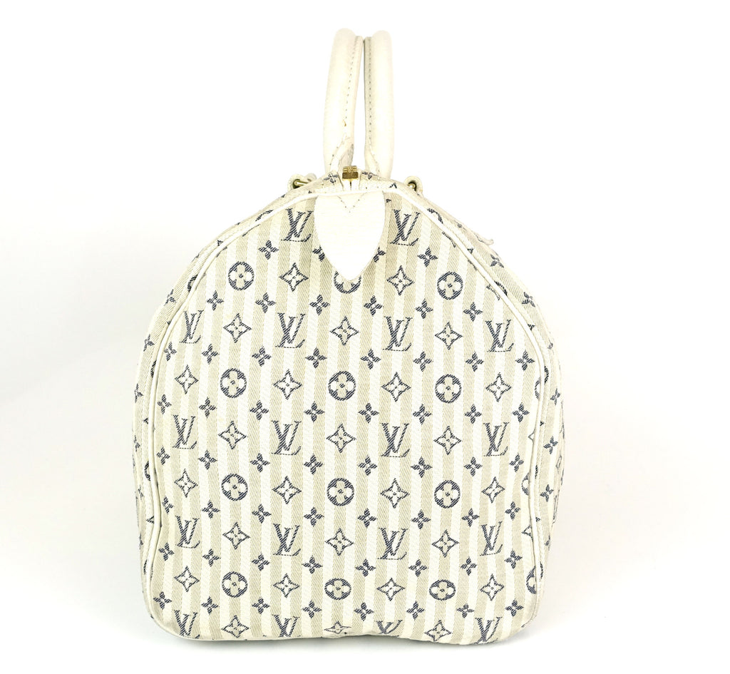 Speedy 30 Mini Lin Croisette Monogram Handbag