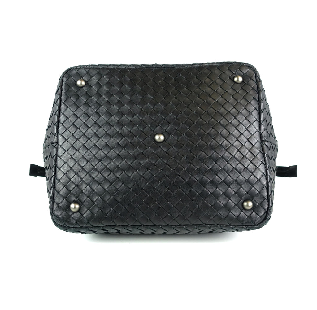 Intrecciato Nappa Leather Top Zip Handbag