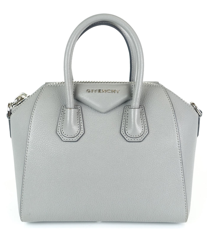 Antigona Pebbled Goatskin Leather Mini Handbag