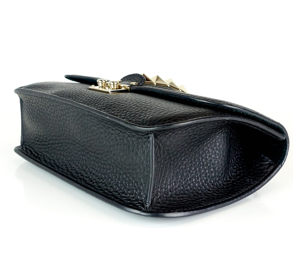 Glam Lock Calfskin Leather Medium Shoulder Bag