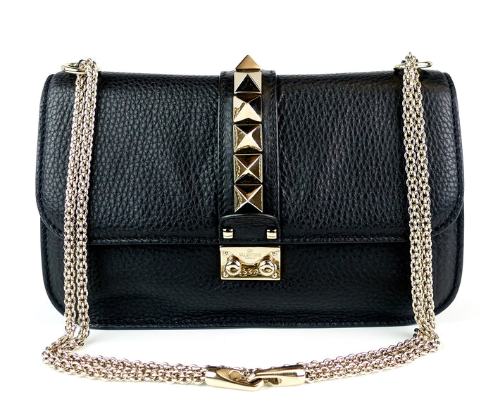 Glam Lock Calf Leather Medium Bag
