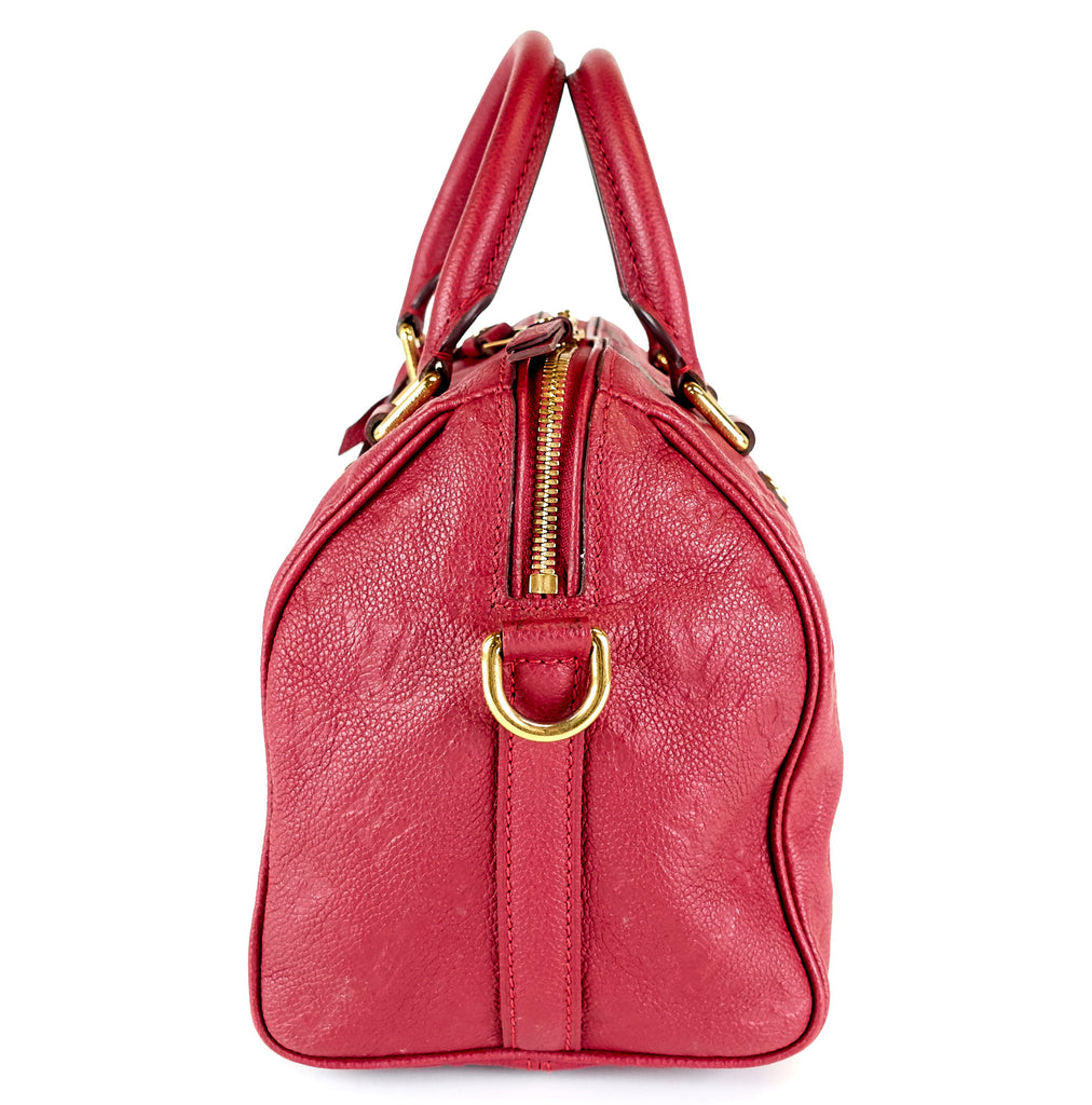 Speedy 25 Bandouliere Empreinte Leather Handbag
