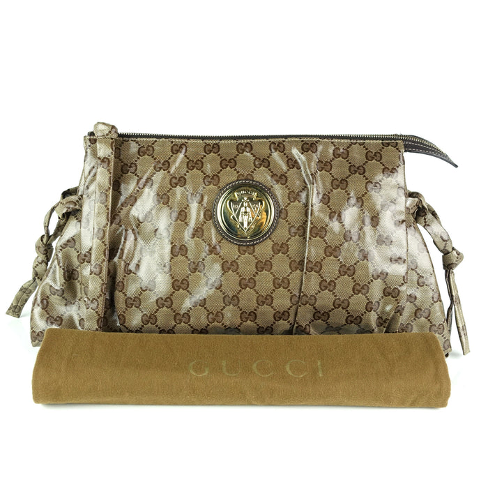 ed826968ca1 Gucci · Marmont GG Matelassé Leather Wallet on a Chain · Hysteria Coated  Monogram Canvas Clutch Bag