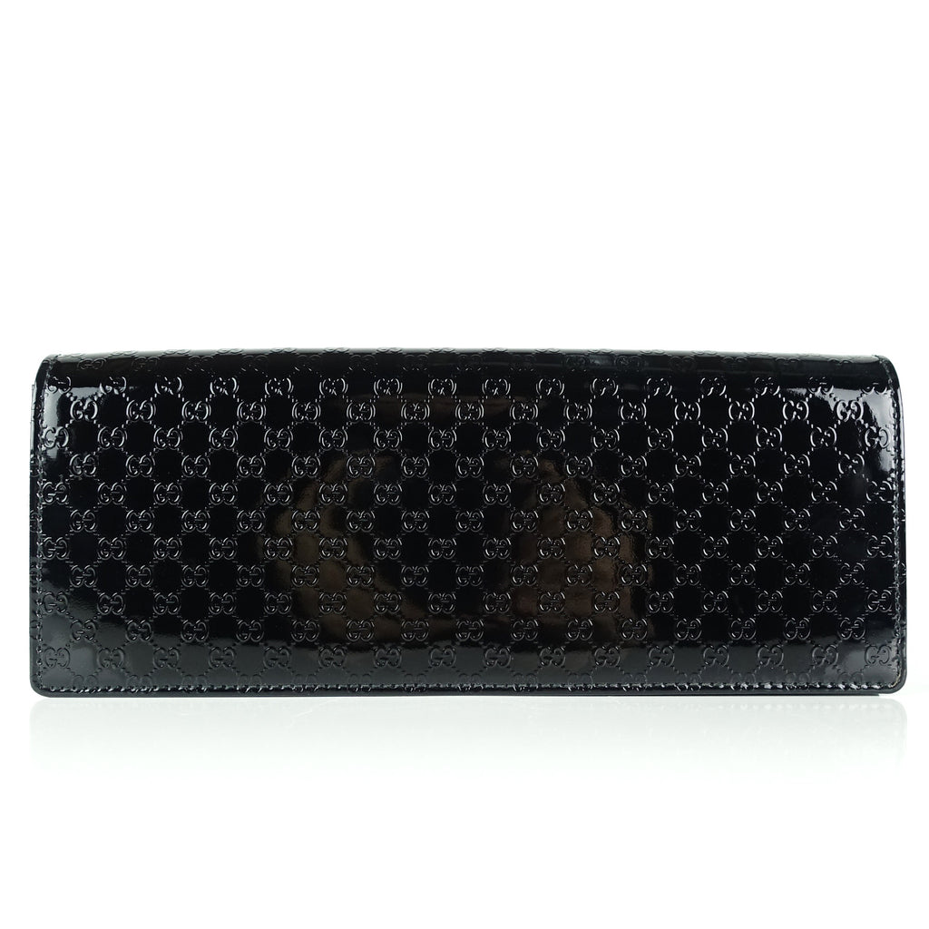 Broadway Microguccissima Patent Leather Clutch