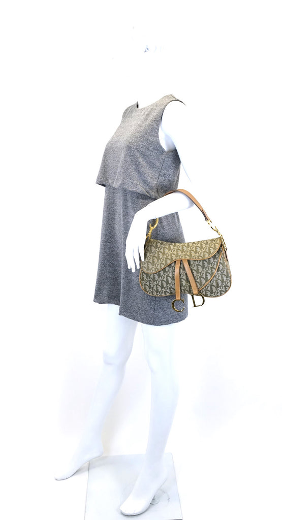 Double Saddle Diorissimo Canvas  Bag