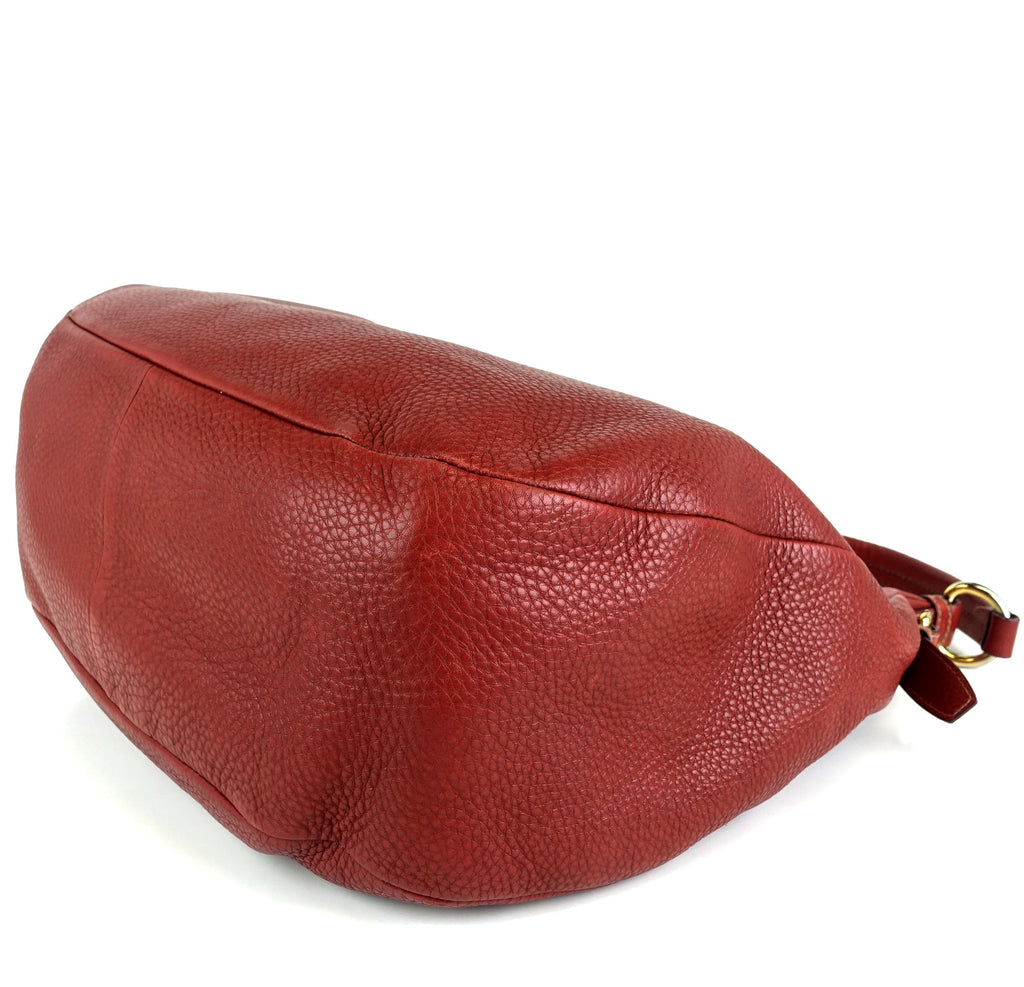 Vitello Daino Leather Large Hobo Bag