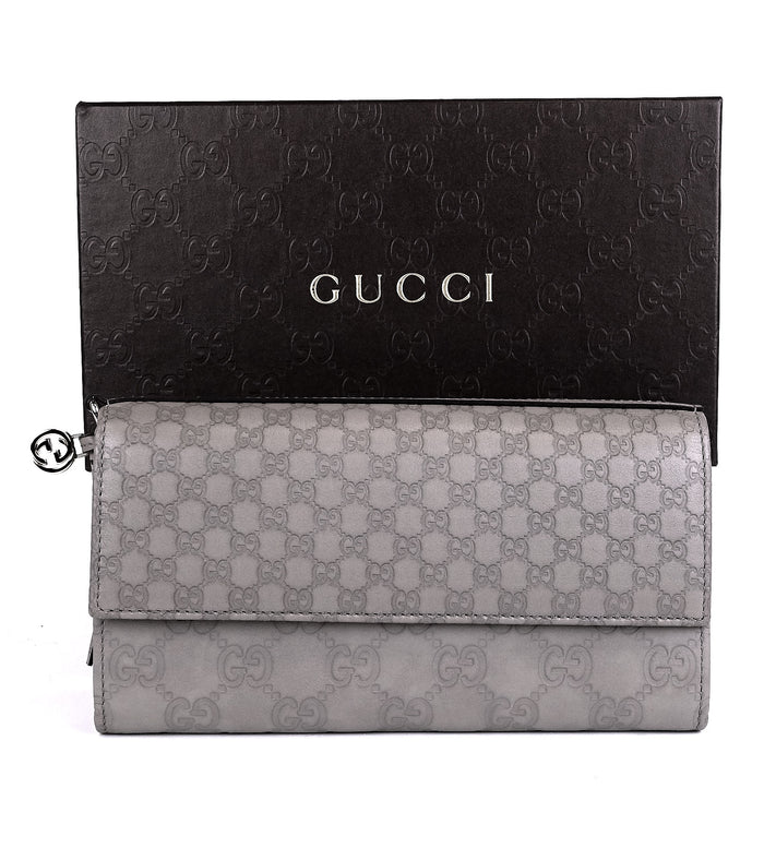 Guccissima Leather Continental Wallet