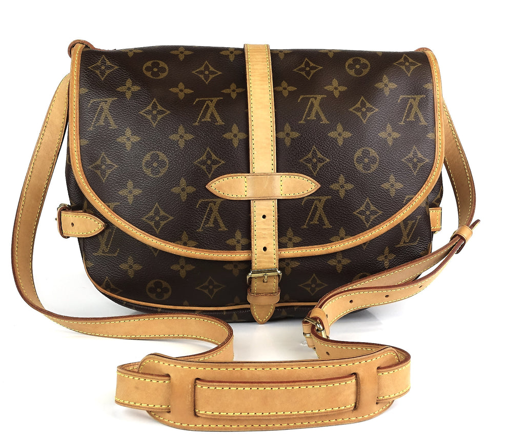 Saumur 25 Monogram Canvas Shoulder Bag