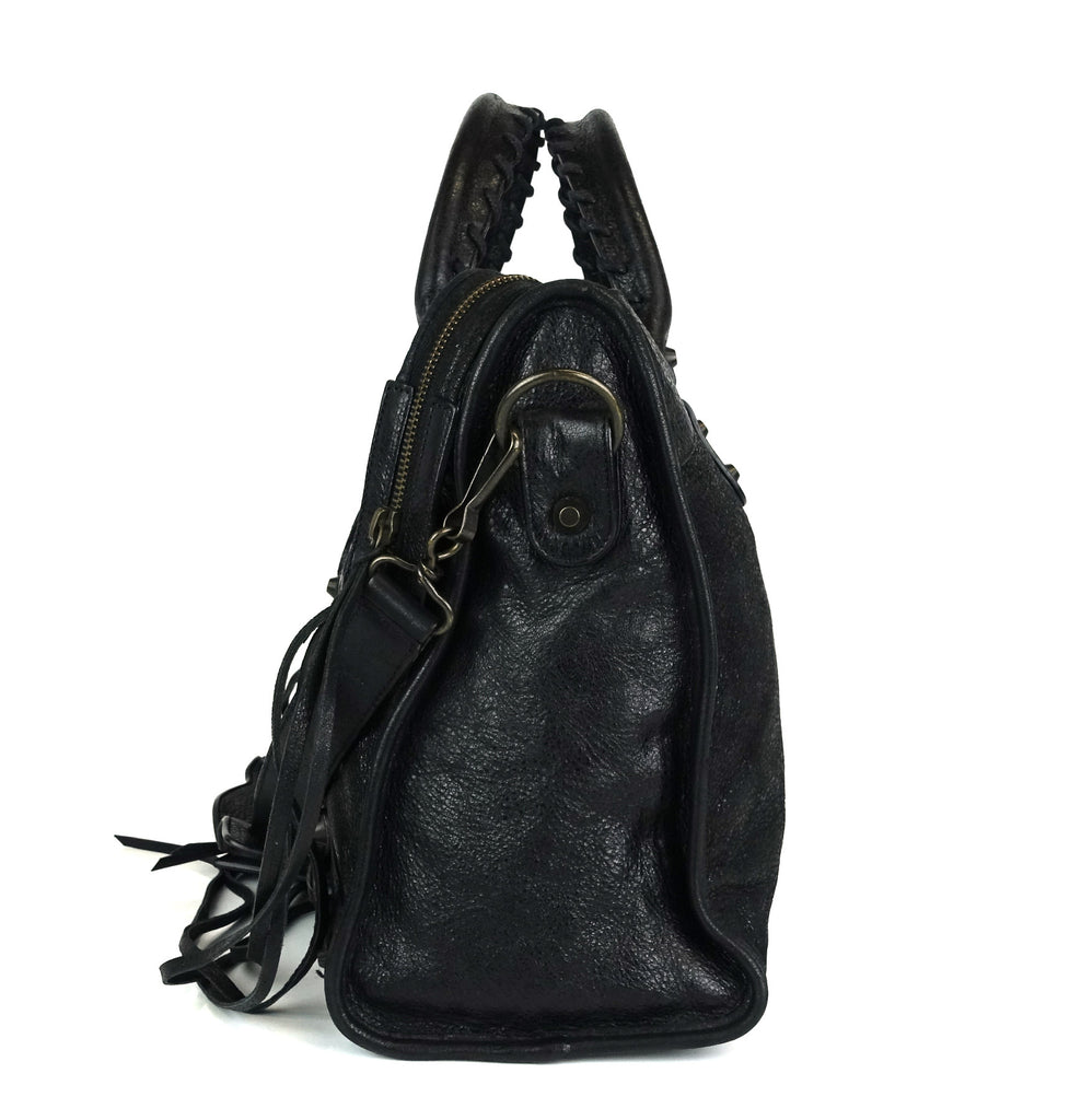 Classic Agneau Leather City Bag