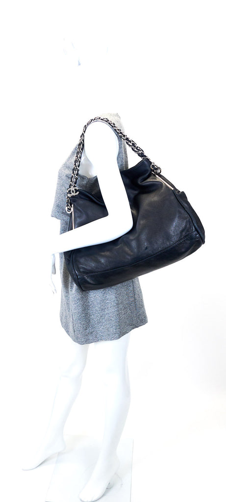 Smooth Lambskin Leather CC Pull Tab Tote Bag