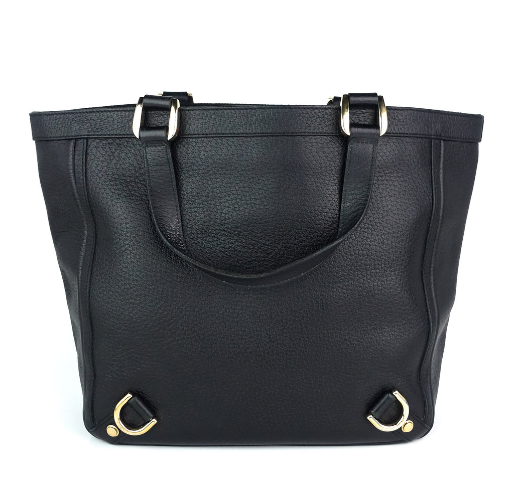 Abbey Leather D-Ring Medium Tote Bag
