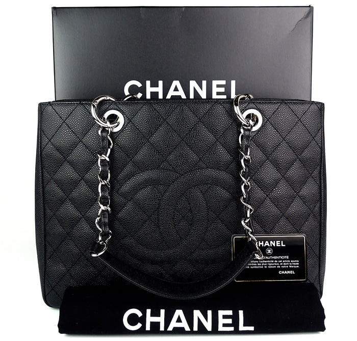 e37995a3be95 Grand Shopping Tote GST Caviar Leather Bag Sold · Chanel