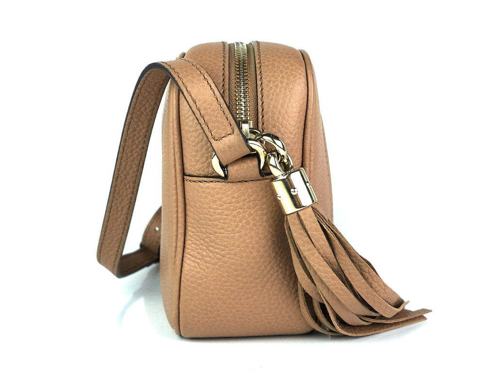 Soho Disco Grained Calf Leather Small Crossbody Bag