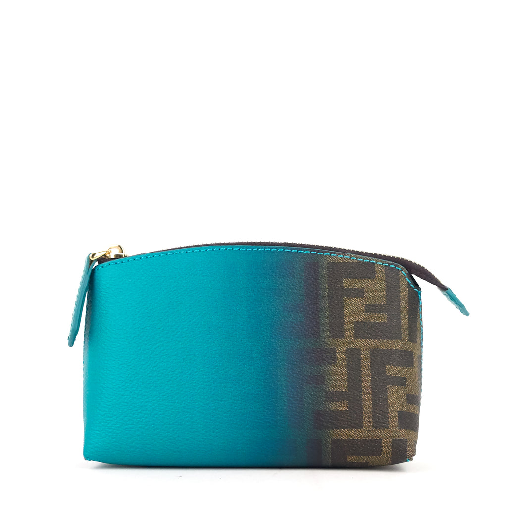 Ombre Zucca Coated Canvas Cosmetic Case