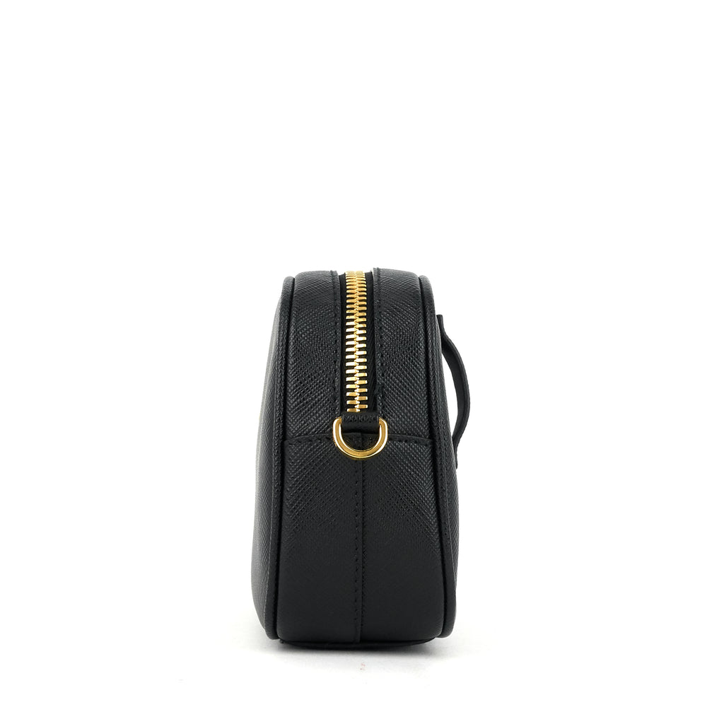 Saffiano Leather Belt Bag with Detachable Chain Strap