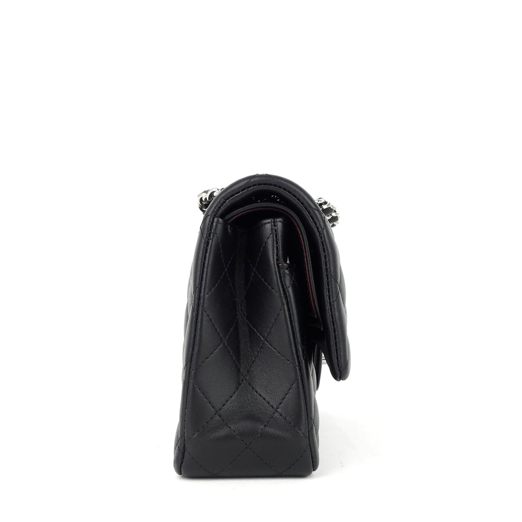 Classic Double Flap Lambskin Leather Bag