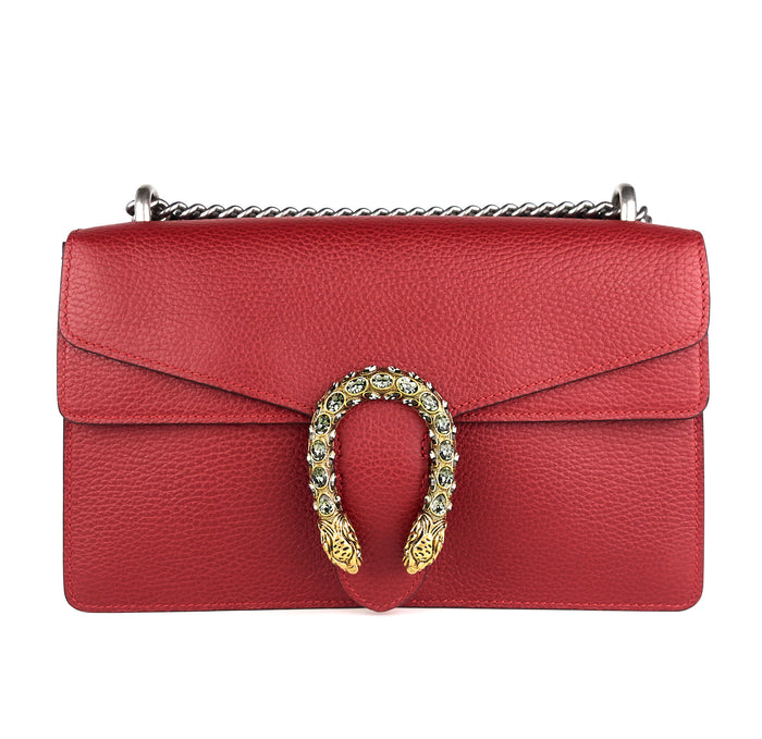 Dionysus Textured Leather Small Shoulder Bag