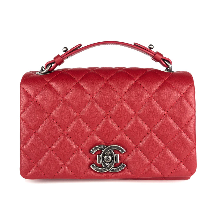 City Rock Quilted Goatskin Small Bag