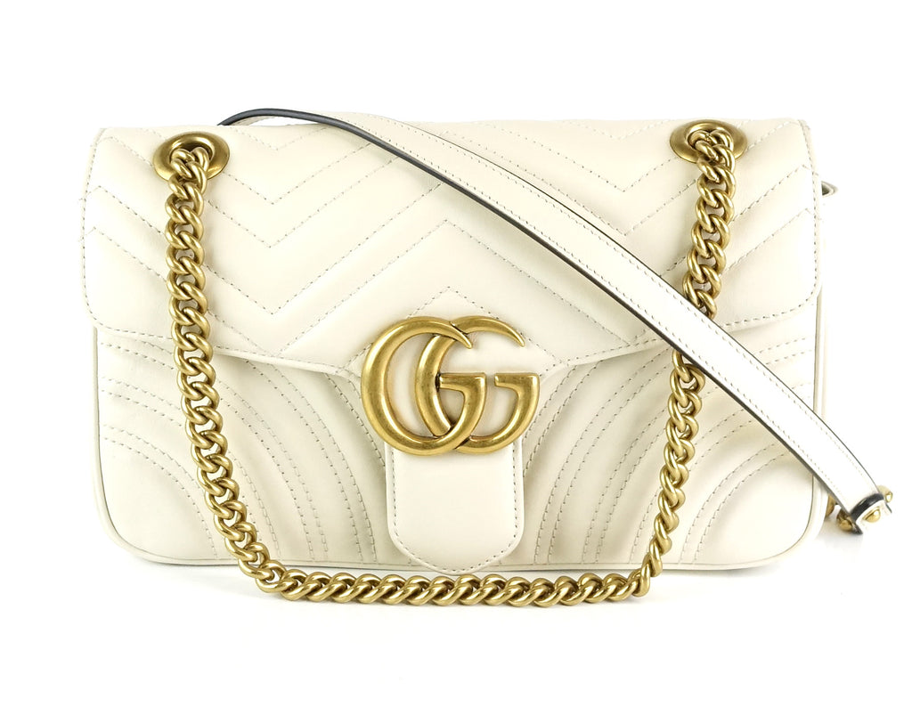 7bb424a31c3 Gucci GG Marmont Matelassé Chevron Leather Small Bag – Poshbag Boutique