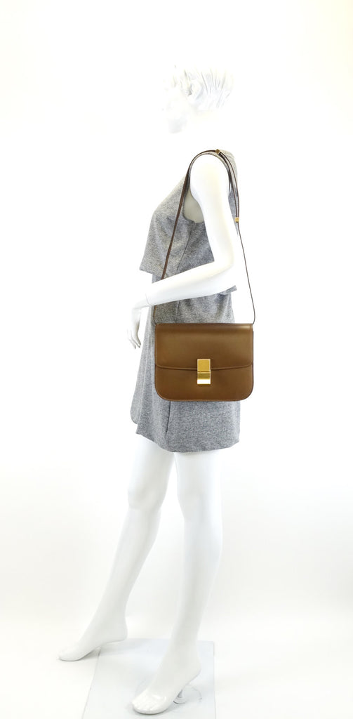 Classic Box Flap Calf Leather Medium Bag