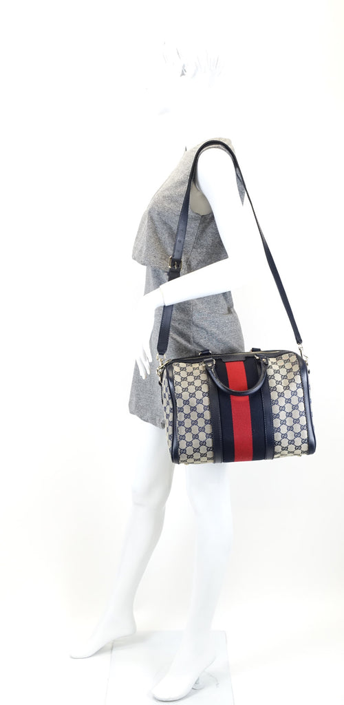 Monogram Canvas Web Boston Bag with Strap