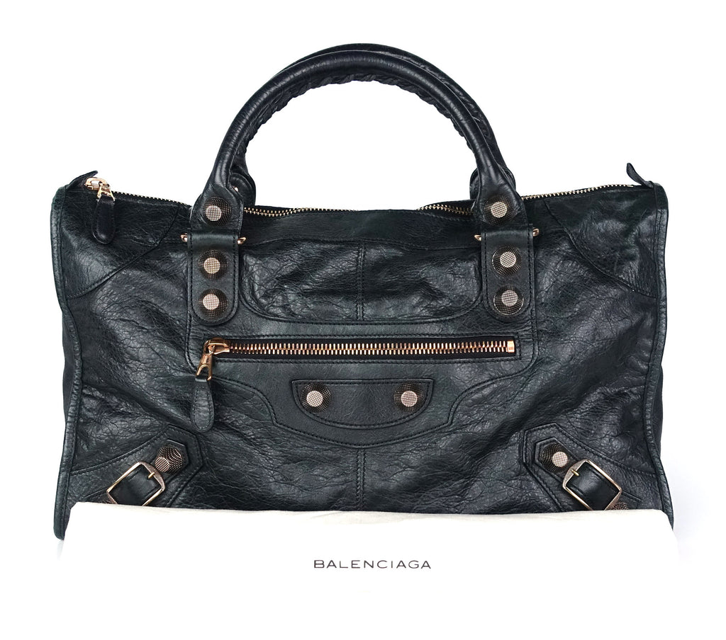 Giant 21 Agneau Leather Work Bag