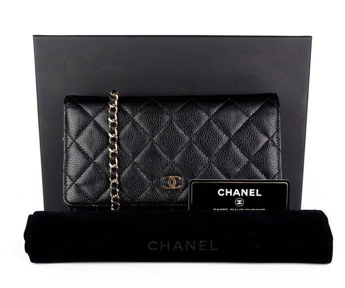 c32947e4a156 Wallet on a Chain Quilted Caviar Leather Bag Sold · Chanel