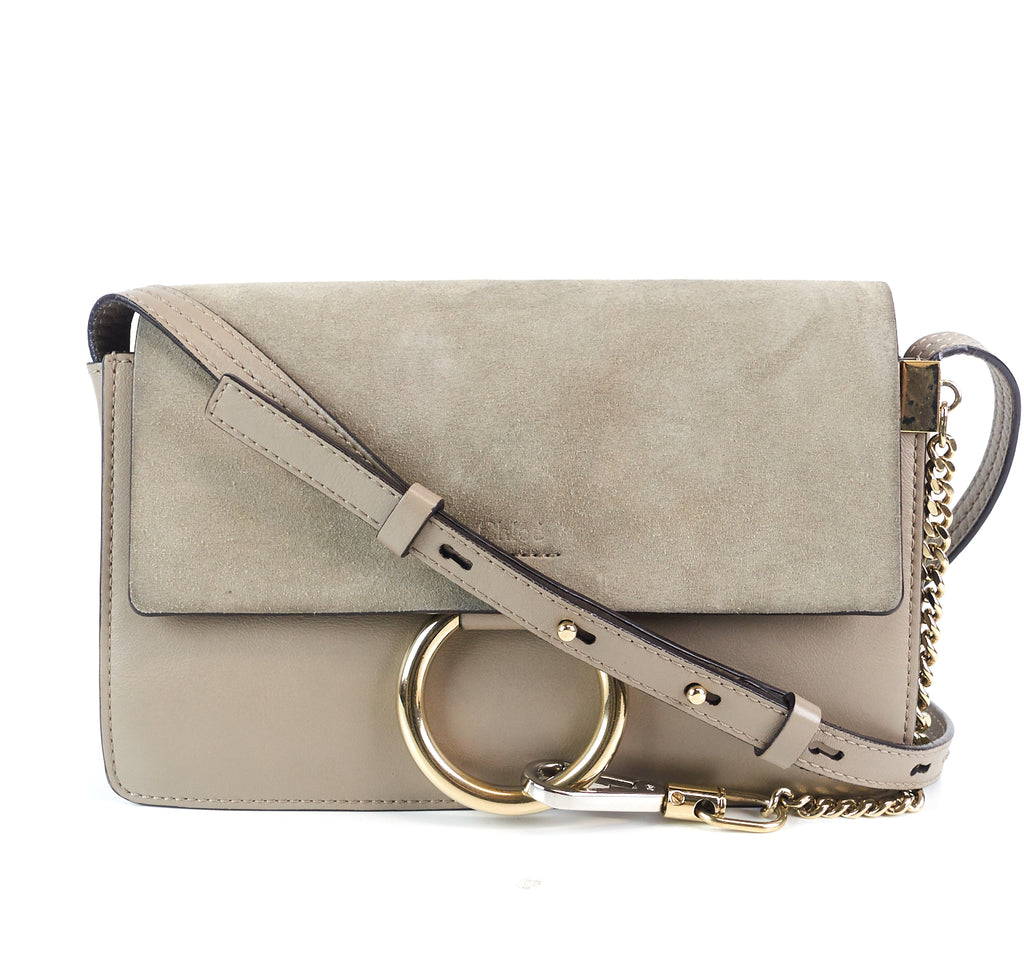 3f4a208f2e9 Chloe Faye Leather and Suede Small Bag – Poshbag Boutique