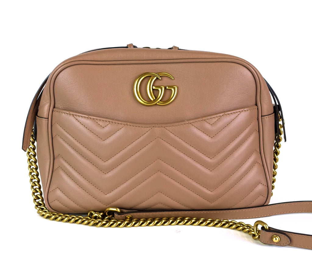 Matelasse Leather GG Marmont Medium Bag